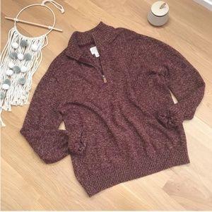 St. John's Bay | Quarter Zip Cotton Sweater SZ XL